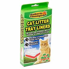 Roberts & Thompson Branded 24 Cat Litter Tray Liners (Approx) 70cm X 30cm