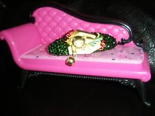 Swarovski Crystals & CAT in BOX w/BELL Jewelry BARRETTE Green UNWRAPPED!