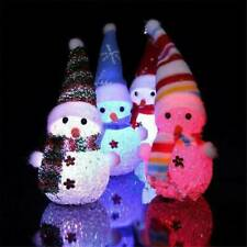 Xmas LED Santa Claus Snowman Ornament Christmas Tree Light Hanging Toy Decors