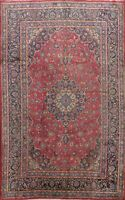 Vintage Floral Traditional Kashmar RED Area Rug Hand-knotted Wool Oriental 7x10