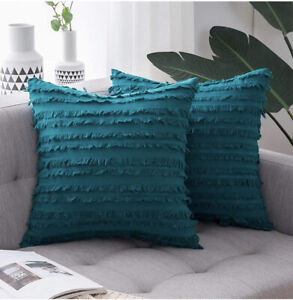 Miulee Cushion Covers Teal 55x55cm X2