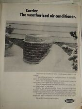 1968 Carrier Air Conditioning Weatherized Conditioner in Snow Original  Ad