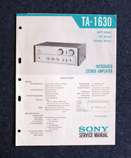 Sony TA-1630, Integrated Stereo Amplifier Service Manual - original.