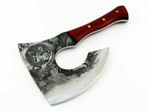 Handmade Hunting Hatchet and Meat Cleaver to Process Game