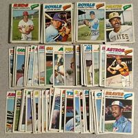 1977 Topps Baseball U Pick Complete Your Set