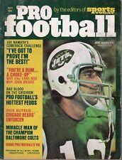 1971 Sports Today,Pro Football magazine,Joe Namath,New York Jets, Dick Butkus~Fr