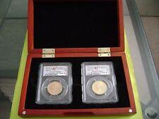 2007-P GEORGE WASHINGTON PCGS MS69 SATIN FINISH POSITION A&B 2-COIN DOLLAR SET