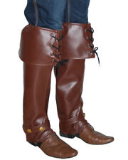 Brown Lace Up Pirate Boot Covers One Size