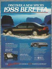 1988 Chevrolet BERETTA advertisement, Chevy sport coupe