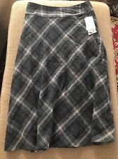 CONRAD C COLLECTION NWT Black/Grey Wool/Polyester Skirt Size 12 (RS)