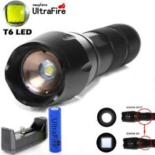 Ultrafire 50000LM T6 LED Flashlight Zoomable Military 18650 Battery+Torch+CHAR