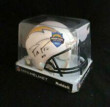 New listing PHILIP RIVERS San Diego LA Chargers Faux Autograph RIDDELL Mini Helmet 2012 STH