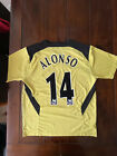 Liverpool FC 2005/06 Third Shirt #14 Alonso On The Back Felt Lettering Men's L