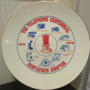 The Telephone Centennial Sunflower chapter plate 1876-1976