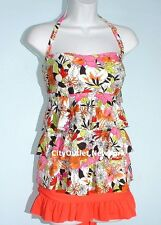 Island Escape Swimsuit 2-PC Size 12 Tiered Ruffles Tankini Skirt Set NWT