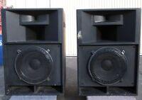 PAIR of Cerwin Vega CVX-153 3-way Loudspeakers / Speaker System NICE!