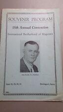 15th Ibm Annual Convention Souvenir Program 1940