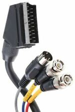 2m Audio Video Mixed Cable Assembly Male SCART to Male BNC x 2, Male DIN Male x