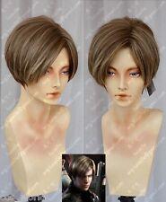 Resident Evil Leon Scott Kennedy Cosplay Wig