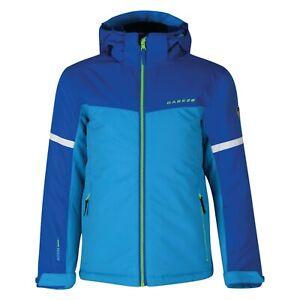 Dare2b Boys Ski Jacket Fluro Blue /Oxford Blue obscure ski snowboard