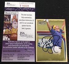 ROGER FEDERER 2006 ACE AUTHENTIC HEROES & LEGENDS SIGNED AUTOGRAPHED CARD JSA