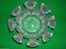 VINTAGE RETRO RAVENHEAD FLAIR GLASS BOWL / CANDLE HOLDER 1960'S 1970'S ICE