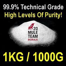 Borax tétraborate de sodium decahydrate pur à 99.9% grade de laboratoire 1kg / 1000g