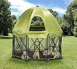 Carlson Pet Products 8-Panel Foldable and Portable Steel Pet Exercise and Pla...