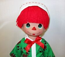 """Precious Moments Holiday Raggedy Andy 12"""" Doll New """"Raggedy Wishes"""""""