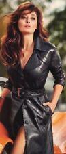 Women Black Leather Dress Genuine Lambskin Women's Fashion Plus Size - 103