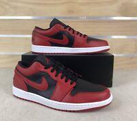 Nike Air Jordan 1 Low Reverse Bred Mens Size 13 Gym Red Black White 553558-606