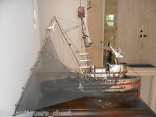 "CURTIS JERE ""Maria"" wall sculpture fishing boat SIGNED complete with net"