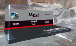 Custom McLaren West Display Case & Sponsor Backdrop for F1 Minichamps 1/18 - SGP