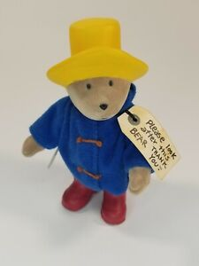 "Vintage 1995 Eden Paddington Bear Figure 5"" Tall Hong Kong Posable Darkest Peru"