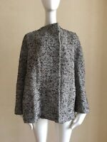 YVES SAINT LAURENT Rive Gauche Oversized Brown Wool/Mohair Jacket Coat Size 42