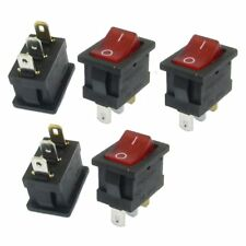 5 pcs Red Light IllumInated ON/OFF 2 Position SPST Boat Rocker Switch 3 Pi S2P4
