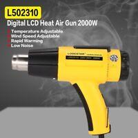 Handheld 2000W 110V 220V Industrial Hot Air Gun Blower Welding Heat Gun +Nozzle