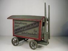Antiker Pferde Hänger DEG f.Land & Eisenbahn Möbeltransport um 1910
