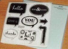 CTMH D1531 WORD BALLOONS ~ CIRCUIT ARTISTE STAMPS