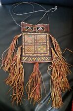 Genuine African Tuareg handmade tribal leather bag a rare find 3 compartment