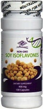 Natural Soy Isoflavones 400 mg 100 Capsules NON GMO