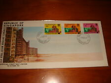 Singapore 1967, 2nd Afro-Asian Housing Congress, 3v nice & neat FDC