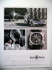 PUBLICITE-ADVERTISING :  BELL & ROSS BR03-94 Aero GT  2015 Montres,Avions,Rafale