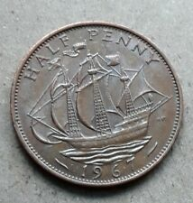 1967 Great Britain England UK 1/2 half penny great color