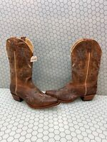 Women/'s Redhawk Western Boots Brown Leather with Embroidery Snip Toe 37012