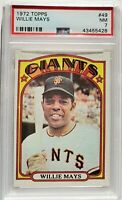 1972 Topps San Francisco Giants HOF Vintage Card WILLIE MAYS PSA 7 Near MINT