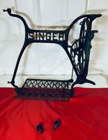 ANTIQUE 1910 SINGER #6 TREADLE SEWING MACHINE PEDAL FLYWHEEL FRAME GUARD