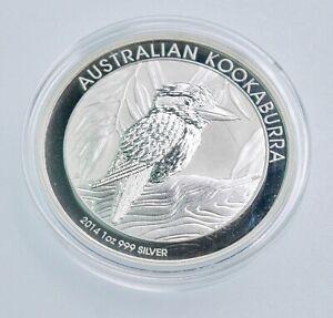 2014 AUSTRALIAN KOOKABURRA ~ 1oz .999 SILVER COIN ~ GEM BU ~ IN  CAPSULE #359