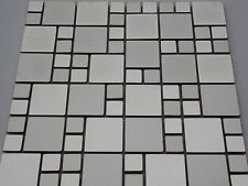 edelstahl fliese mosaik bad dusche küche sauna silber matt glänzend sonderposten