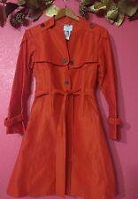 NWOT CELINE  Orange Trench Coat Jacket 44 / US 6-8
